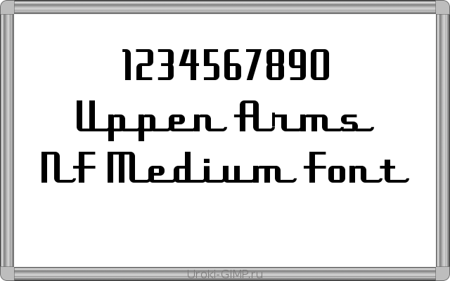 Uppen Arms NF Medium Font