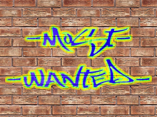 Граффити Most Wanted шрифтом Most Wazted