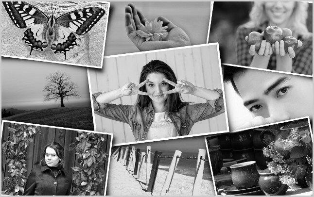 Черно-белые фото сделать в GIMP black and white
